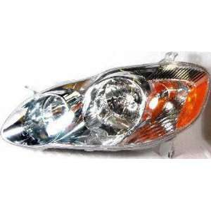 03 04 TOYOTA COROLLA HEADLIGHT LH (DRIVER SIDE), S Model (2003 03 2004