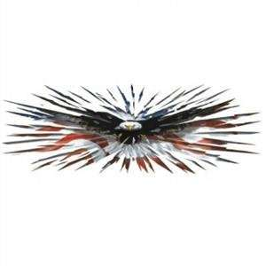 Eagle Burst w/ USA American Flag Decal Lethal Threat