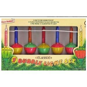 Classic Lighting Set of 7 Multi color Christmas Bubble
