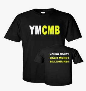 YMCMB Logo YOUNG MONEY LIL WEEZY Wayne HIP HOP RAP T shirt sizes S 5XL