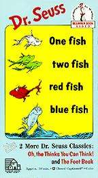 Dr. Seuss   One Fish Two Fish Red Fish Blue Fish VHS
