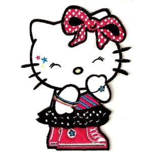 Hello Kitty rock n roll hip hop dress up large Embroidered Iron On