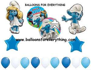 SMURF Smurfette Happy Birthday Party Deluxe 15 Balloons