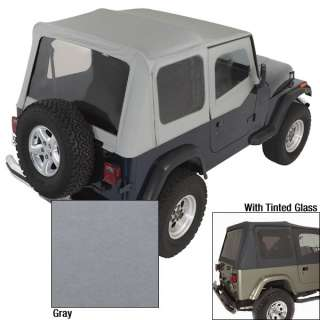 1988 1995 Wrangler YJ Rugged Ridge Charcoal Soft Top