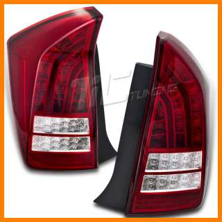 2010 2012 TOYOTA PRIUS RED/CLEAR FULL LED TAIL LIGHTS AMBER TURN