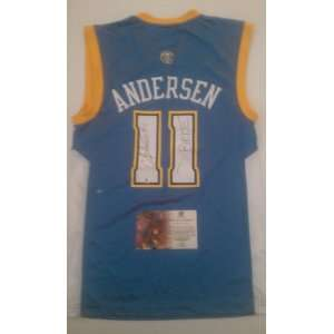 Chris Andersen Birdman Signed Denver Nuggets Jersey
