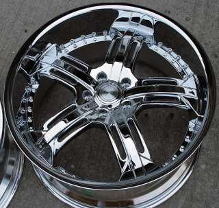 RVM 503 20 CHROME RIMS WHEELS NISSAN 370Z STAGGERED