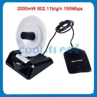 High Power USB 2.0 2000mW 802.11b/g/n 150Mbps Wireless Network Adapter