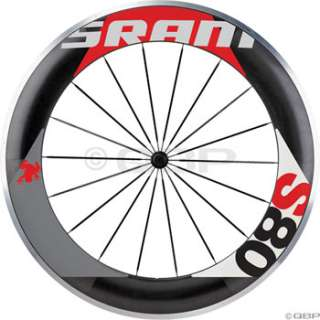 SRAM S80 Front Clincher Wheel Black w/Red Decal