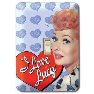(4x5) I Love Lucy Heart Light Switch Plate