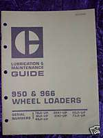 Caterpillar 950 & 966 Wheel Loader Operators Manual