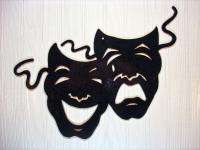Metal Wall Art Home Theater Decor Comedy Tragedy Masks