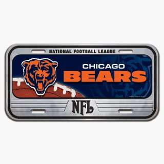Chicago Bears Domed Metal License Plate *SALE* Sports