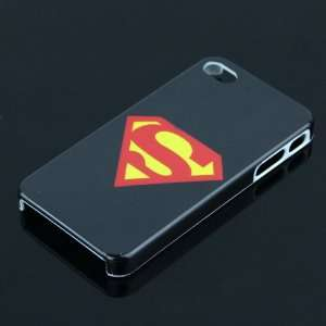 Black Superman Design Case Cover Skin Protector for Apple Iphone 4g 4s