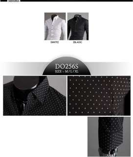 Mens casual dress shirts slim fit Unique design M~XL