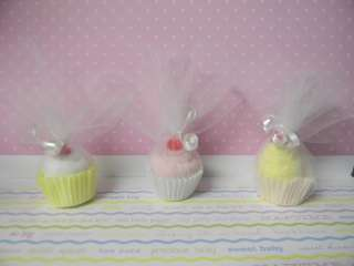 Baby washcloth mini cupcake baby shower favor/decoration boy, girl