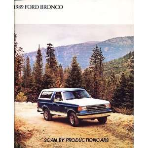 1989 Ford Bronco Truck Original Sales Brochure Everything