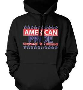 American Pride United We Stand USA Patriotic Hoodie Sweatshirt