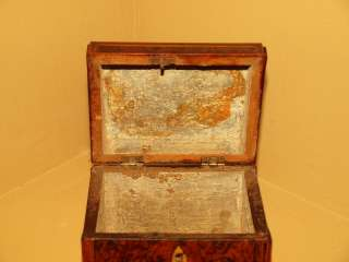 Antique Early American Georgian Inlaid Satinwood Mahogany Trinket Box