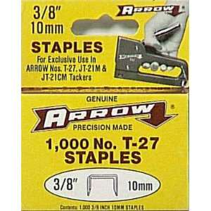 Arrow Fastener 276 JT21 3/8 Flat Crown Light Duty Staples
