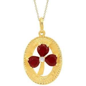 Gold Womens Diamond Garnet Pendant 2.57 Ctw Avianne & Co Jewelry