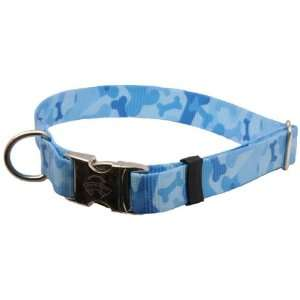50 Premium Blue Bone Camo Large Patterned Dog Collar