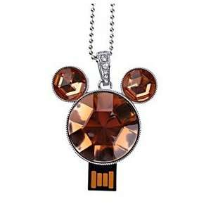 4GB USB Drive U Disk Mickey Style Crystal Flash Memory