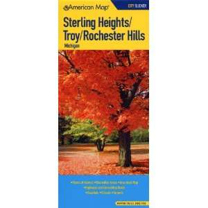 Sterling Heights/Troy/Rochester Hills, Michigan Map (City