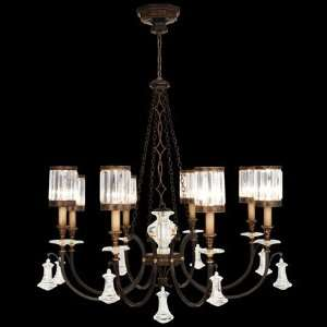 585240ST Eaton Place 8 Light Pendant in Rustic Iron