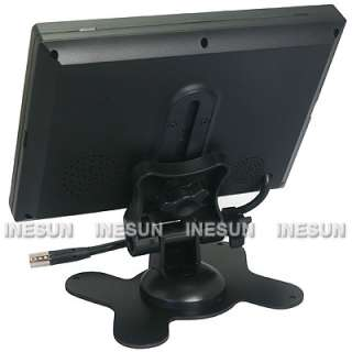 TFT LCD Monitor 2 Video 1 Audio Input DC12V 16  9 Play Mode