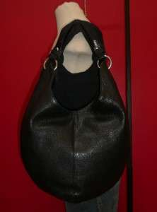 Vintage THE TERRITORY AHEAD LARGE Black Leather Hobo Tote Purse Bag