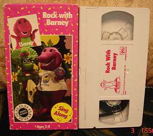 Rock With Barney Vhs 1990 Lyons Group INTRO 1st Cover VGC Cond Video