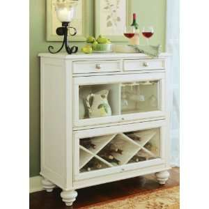 American Drew Camden Antique White Collection Bookcase,Bar