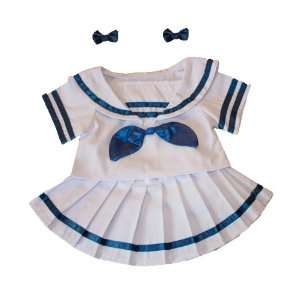 Sailor Girl w/Bows Dress Outfit Teddy Bear Clothes Fit 14