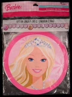 NEW Pink BARBIE Happy Birthday Party Banner 8 feet long