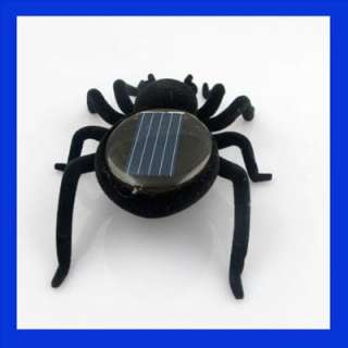 Up for sale is a solar powered spider. The Spider, when exposed to
