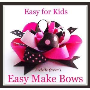 How to Make a Boutique Hair Bow, Ez Kids Craft Kit Brown