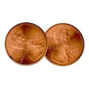 Double Head Penny   Money Magic Trick Toys & Games