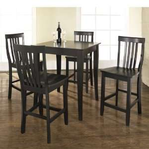 Crosley Furniture KD520003BK   5 Piece Pub Dining Set with Cabriole