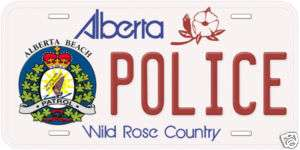 Canada Alberta Beach Patrol Police Car License Plate