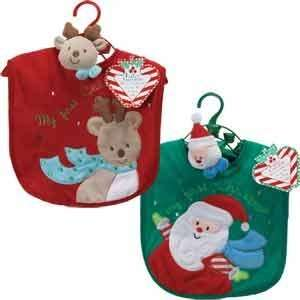 Baby Christmas Bib and Wrist Rattle Toys & Games
