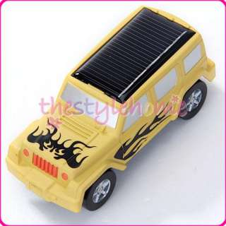 Cool  Mini Solar Powered SUV Education Jeep Car Toy