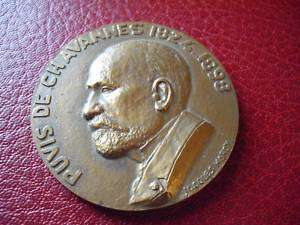 ART MEDAL PUVIS DE CHAVANNES GREAT PAINTERS SYMBOLIST