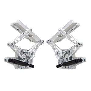 Mustang Billet Aluminum Natural Finish Air Frame Hood Hinge   Pair