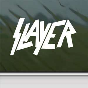 Slayer Heavy Metal Rock White Sticker Laptop Vinyl Window