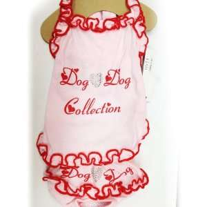 Hot Red Color Pet Dog Dress Clothing. Many Sizes Available