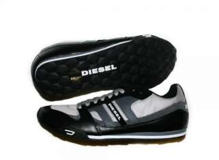 NIB DIESEL Brand Mens Gunner Black P Casual Lace Up Fashion Shoes