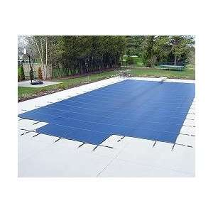 Pool Cover   Blue Mesh Safety Cover w/Step 12 yr Patio, Lawn & Garden