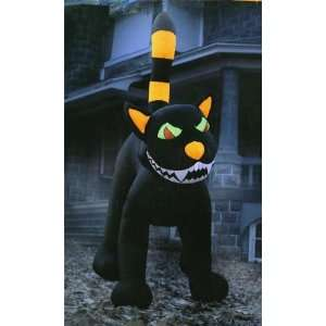 Animated Inflatable Black Cat  Rotating Head Patio, Lawn & Garden