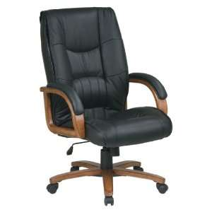 Black Glove Soft Leather Executive Office Desk Chairs